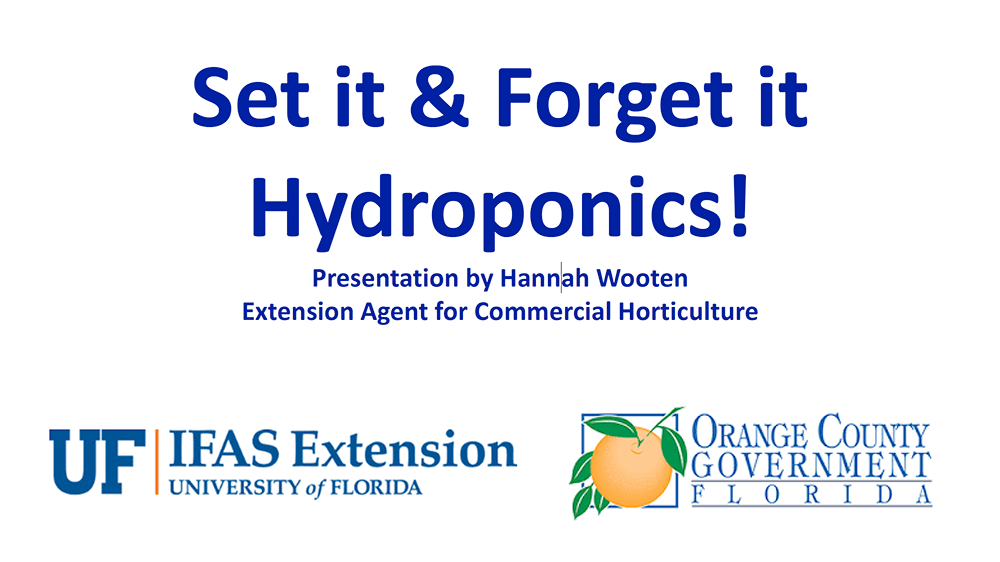 set it forget it hydroponics presentation cover